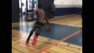 Andrew Wiggins Does 720 Degree Dunk During Summer Training Session
