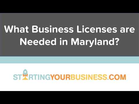 What Business Licenses are Needed in Maryland - Starting a Business in Maryland