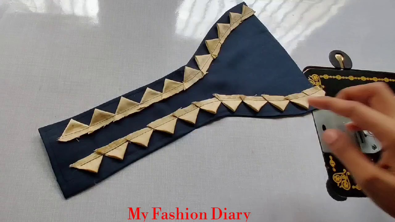 Beautiful and easy neck design cutting and stitching
