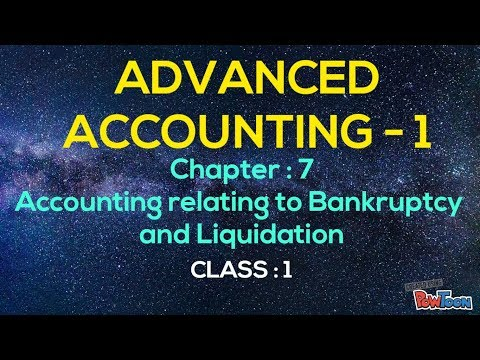 Advanced Accounting - 1( bangla ) . Chapter- (Accounting relating to Bankruptcy ) , Class-1