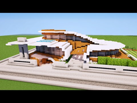 Minecraft maison moderne originale map youtube for Plan maison minecraft moderne