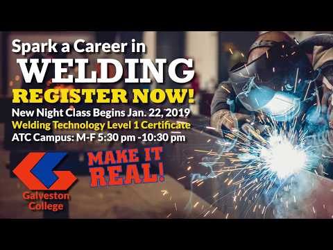 2019 Welding Spring - Evening Classes Available
