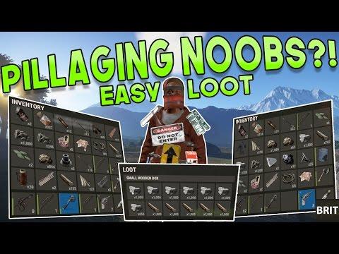 PILLAGING NOOBS?!   Rust DUAL SURVIVAL Gameplay   Season 2 - Episode 3
