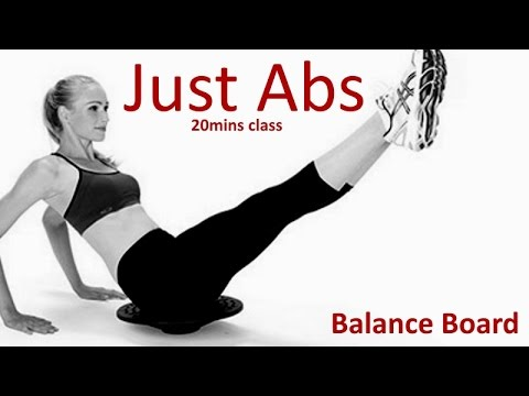 20mins JUST ABS CLASS: Balance Board