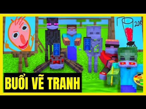 [ Lớp Học Quái Vật ] BUỔI HỌC VẼ TRANH SIÊU CẤP VIP PRO 1-6    Minecraft Animation
