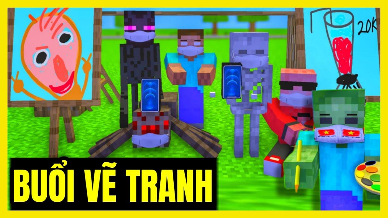 Lớp Học Quái Vật ] BUỔI HỌC VẼ TRANH SIÊU CẤP VIP PRO 1-6 | Minecraft  Animation - YouTube