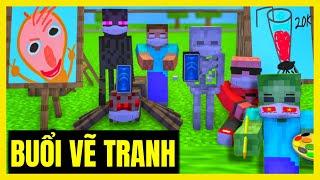 [ Lớp Học Quái Vật ] BUỔI HỌC VẼ TRANH SIÊU CẤP VIP PRO 1-6  | Minecraft Animation