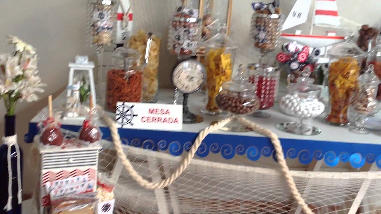 Mesa de dulces n utica youtube for Mesa de postres baby shower
