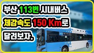 부산 113번 시내버스 노선 주행 영상