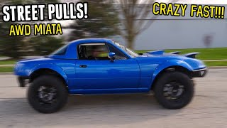 homepage tile video photo for The 400HP AWD Miata is CRAZY! Ripping it on the Streets!