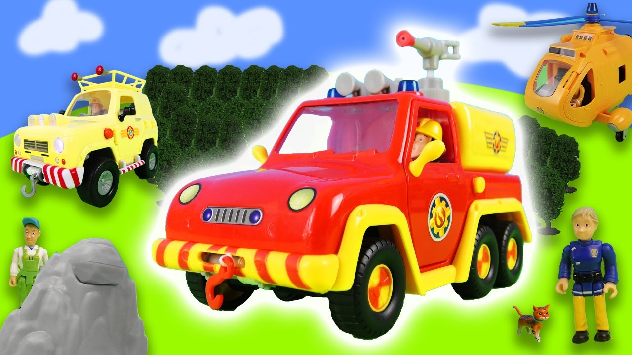 Firefighter Sam Toys: Fire Truck, Helicopter, Mountain Rescue, Toy Stories for Children