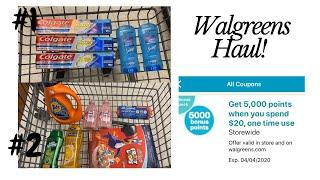 Walgreens Haul 3/29-4/4/20 I 2 ALL Digital Scenarios I Spend $20 Get 5000