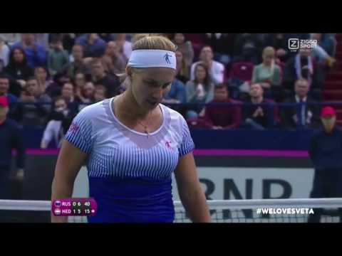 2016 - Fed Cup Russia vs Netherlands - Svetlana Kunzetsova vs. Richel Hogenkamp