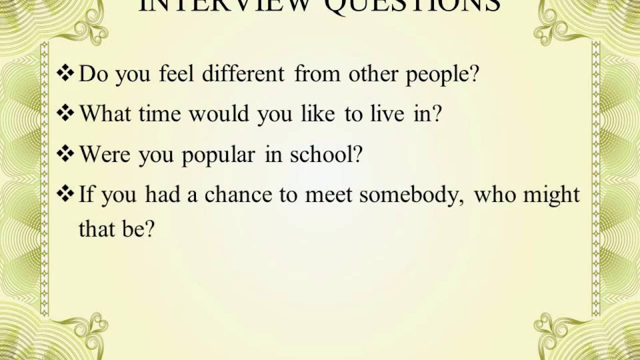 Profile Essay Interview Questions   YouTube  Interview Questions