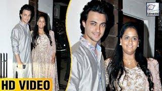 Salman's Sister Arpita Khan And Aayush Sharma At Aamir Khan's Diwali Bash | LehrenTV