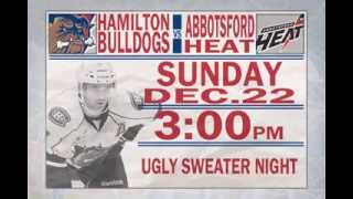 The Hamilton Bulldogs Ugly Sweater Game!