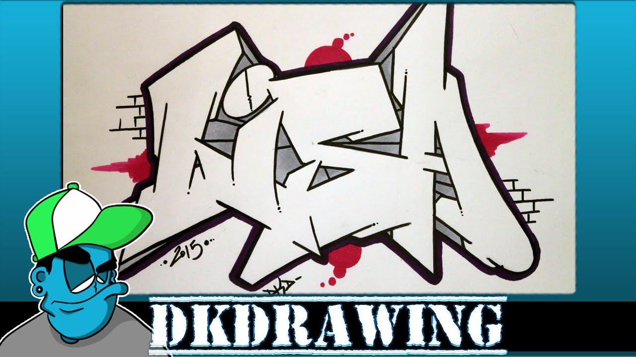 How To Draw Graffiti Names Lisa 2