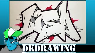 How to draw graffiti names -  Lisa #2