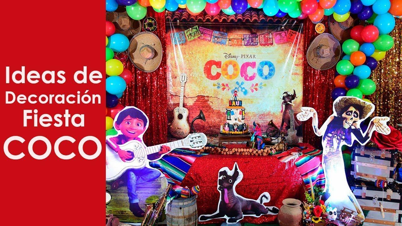 Decoracion fiesta coco youtube - Ideas decoracion fiestas ...