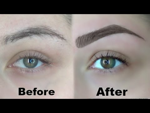How I Wax And Fill In My Eyebrows (Eyebrow Routine) - 동영상