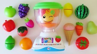 fisher price mix n learn blender toy video learn colors numbers names of fruits vegetables