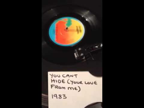David Joseph - You Can't Hide ( Your Love From Me ) From 1983 . ( Vinyl 45 )