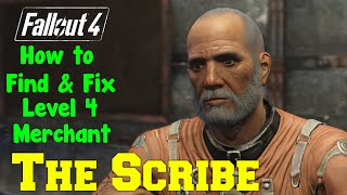 Fallout 4 How to Find Fix The Scribe LEVEL 4 ARMOR MERCHANT