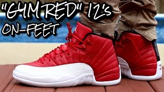 gym red alternate air jordan 12 w on feet review