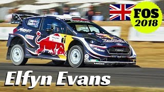 Elfyn Evans + Ford Fiesta RS WRC = MASSIVE Donuts, Burnouts & Show - 2018 Goodwood Festival of Speed