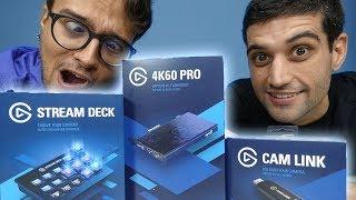 Tudo que você PRECISA para ser um YOUTUBER GAMER - Unboxing Elgato 4k60 PRO | Camlink | Stream Deck