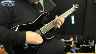 ibanez iron label rgib6 baritone guitar demo dirty