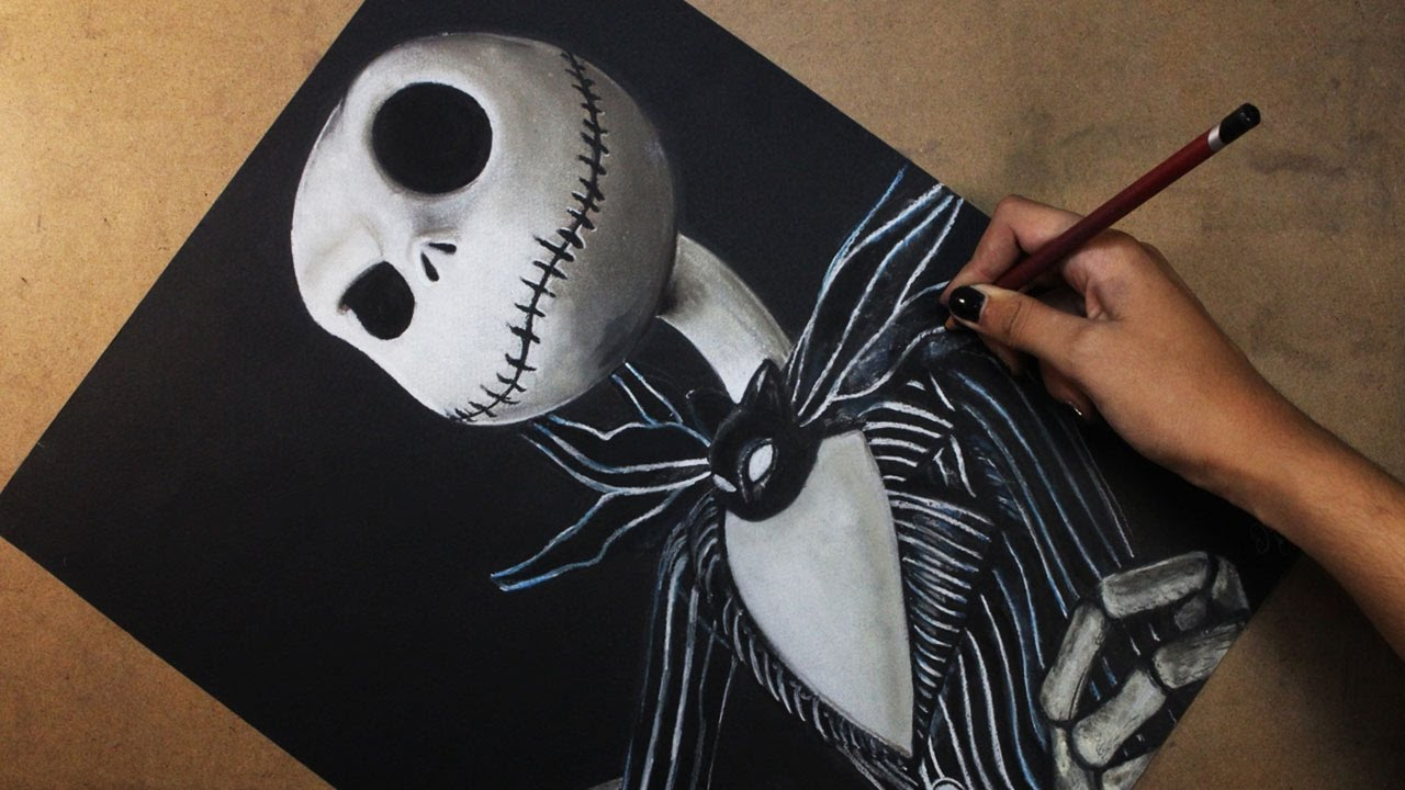 Speed Drawing: Jack Skellington (The Nightmare Before ...