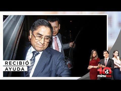 César Hinostroza recibió ayuda de diplomático - 10 minutos Edición Tarde