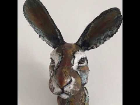 Paper mache grey Donkey wall mount head sculpture, home, interior ... | 360x480