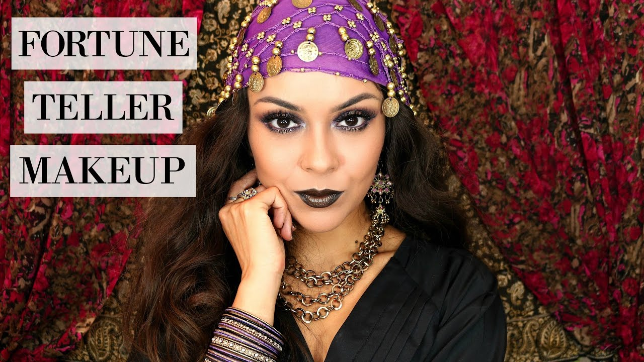 Halloween Fortune Teller Makeup.Easy Last Minute Halloween Look Fortune Teller Makeup Trinaduhra