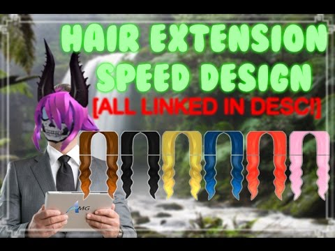 Speed Design Hair Extensions All Linked In Desc Youtube - roblox hair extension template
