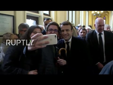 LIVE: French 2017 presidential election runoff - Macron casts vote