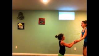 beginner acro stunts (2 people)