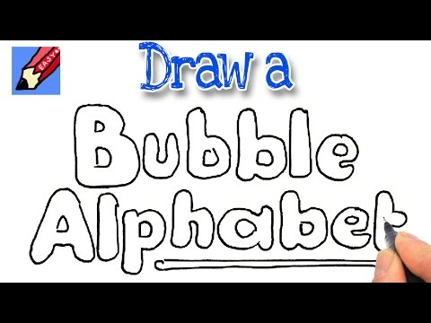 How to Draw Bubble Writing Real Easy - YouTube