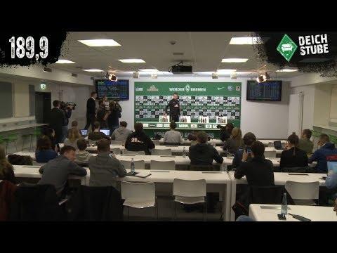 Werder-PK in 189,9 Sekunden vor dem Spiel gegen Bayern München
