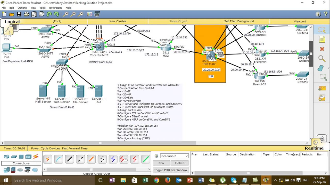 How to Design and Implement Project Enterprise Network(CCNA)#04