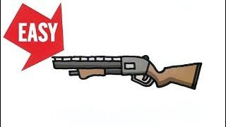 How to draw Fortnite gun【Pump Shotgun】Easy & Cute drawing|Jolly Art NEGI