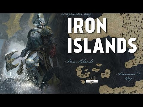 The Iron Islands - Map Detailed (Game Of Thrones)
