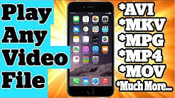 Play Any Video File Format On iPhone iPad and iPod Touch Without Jailbreak