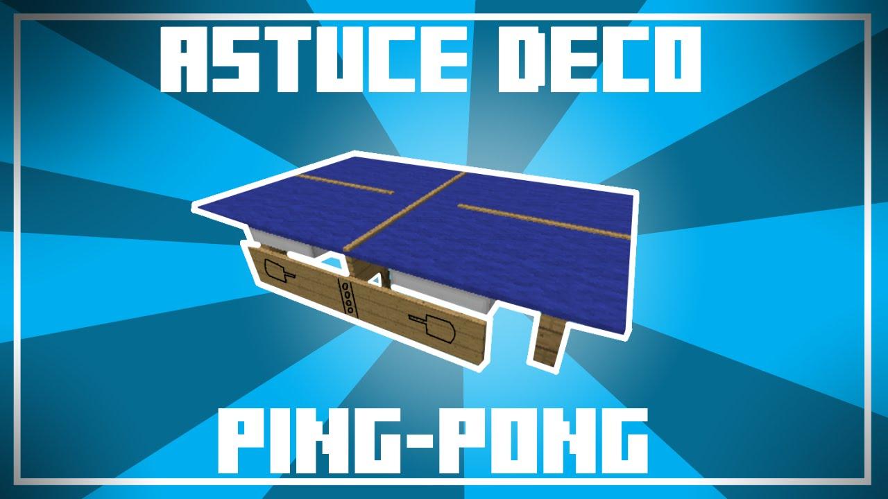 Une Pong Déco Minecraft Astuce De Table Ping Dans PwOZukiTXl