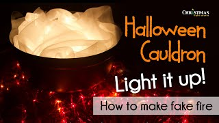Halloween Cauldron - Light it up! How to make fake fire