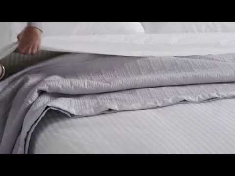 How to create hotel luxury bed styling at home with the Millennia Collection.