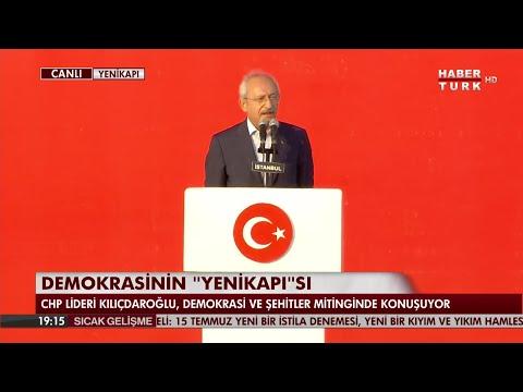 CHP lideri Kemal Kılıçdaroğlu Yenikapı'da birlik mesajı verdi  [7 Ağustos 2016]