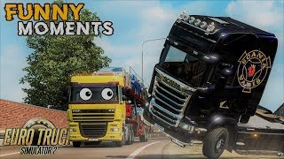 Euro Truck Simulator 2 Multiplayer Funny Moments & Crash Compilation #80