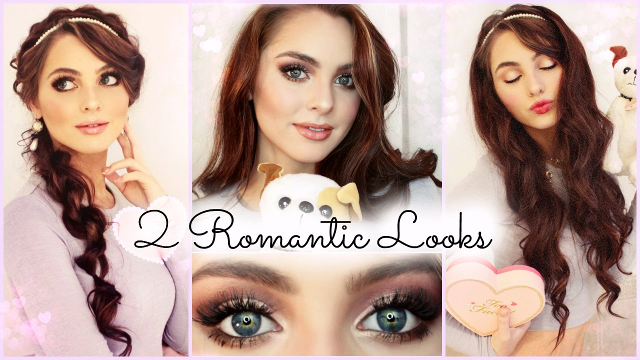 2 romantic makeup hair looks grwm valentines day youtube baditri Image collections